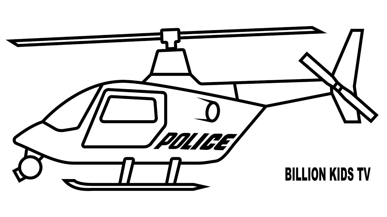 1280x720 police helicopter coloring pages colors for kids with vehicles