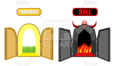 400x231 Gates Of Hell And Paradise, Entrance To Satan And God Royalty Free
