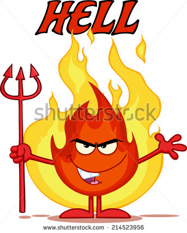 378x470 Hell Clipart Red Flames