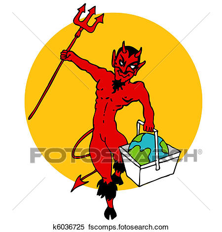 450x470 Clipart Of World Going To Hell In A Handbasket K6036725