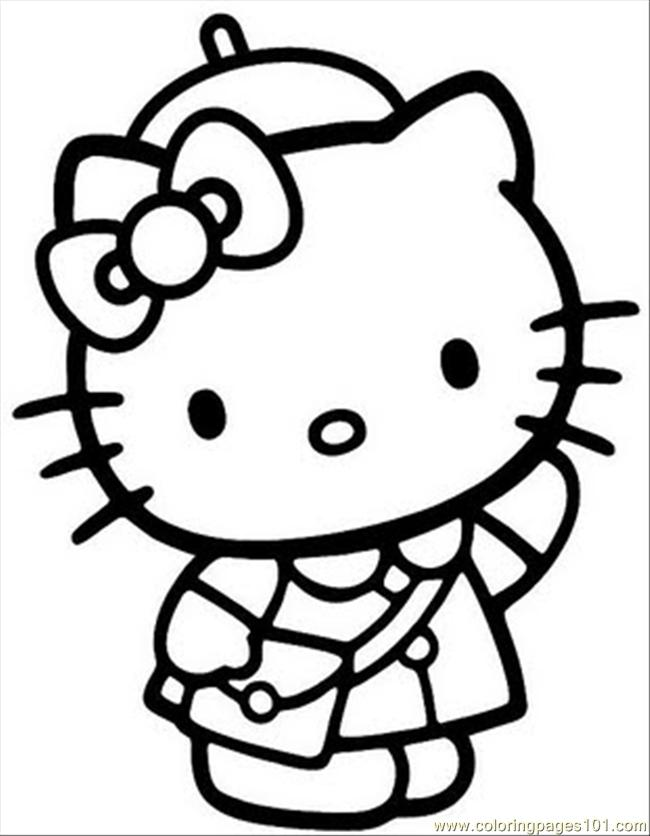 650x836 Hello Kitty Coloring Pages Az Many Interesting Cliparts