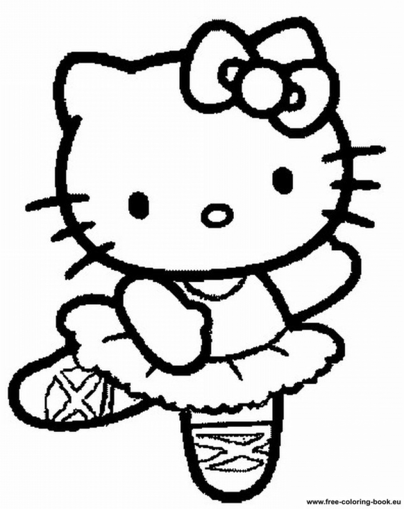 Ausmalbilder Hello Kitty Kostenlos : Hello Kitty Coloring Pages Free Download Best Hello Kitty Coloring