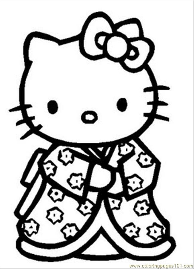 Hello Kitty Coloring Pages Free Download Best Hello Kitty Coloring