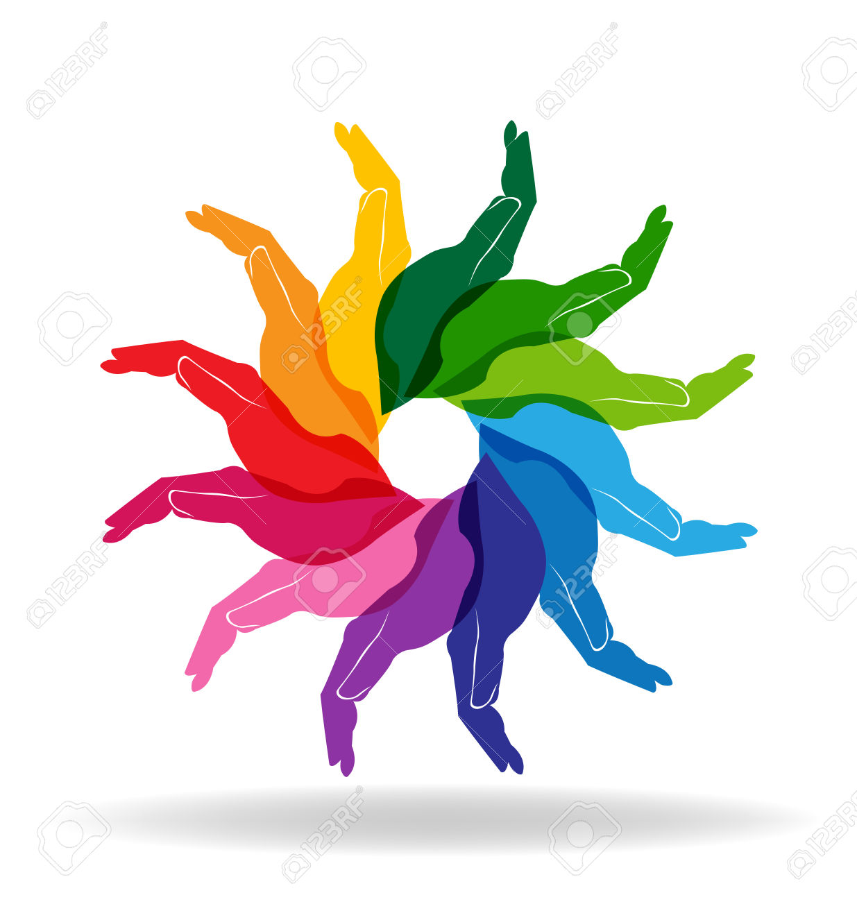 1235x1300 Hands Colorful Diversity People Help Concept Vector Royalty Free