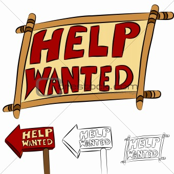 340x340 Image 4101865 Help Wanted Sign Set From Crestock Stock Photos