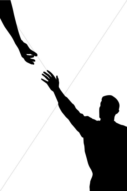 406x612 Hand Black And White Clipart