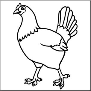 304x304 Clip Art Hen Bampw I Abcteach