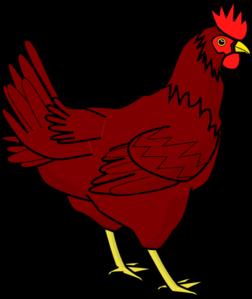 252x299 Brown Hen Clip Art