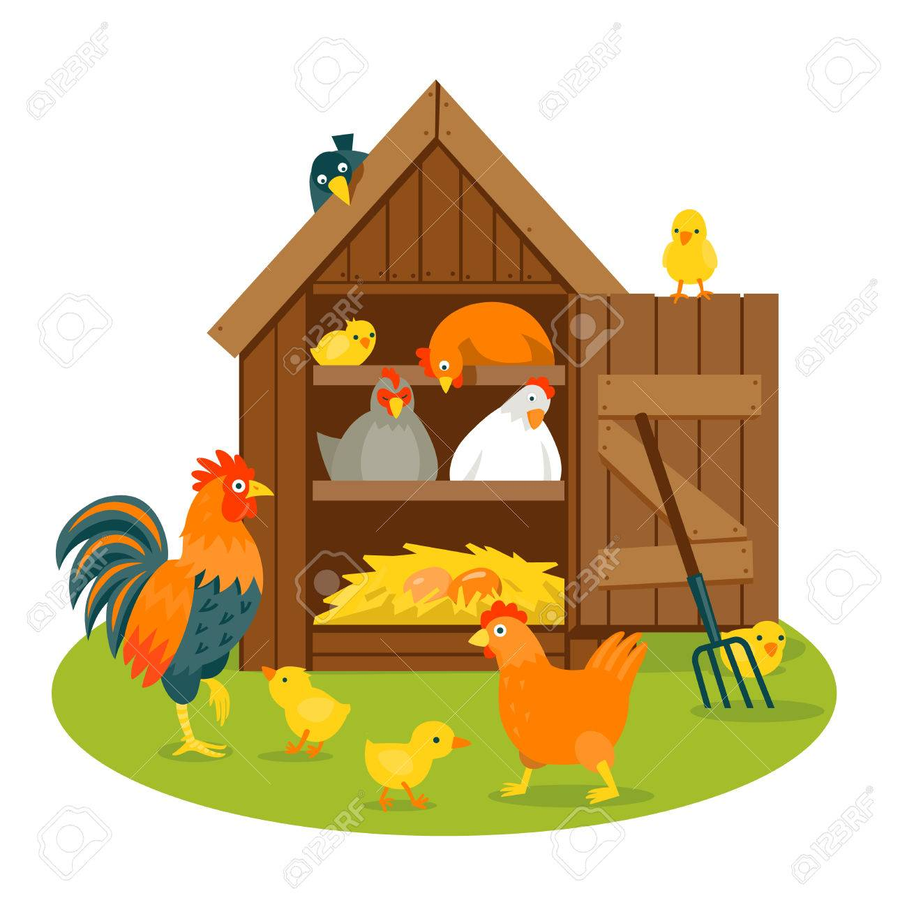 Hen House Clipart | Free download best Hen House Clipart on ...