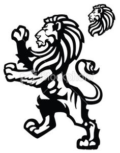 236x300 Heraldic Lions Lions, Tattoo And Tatting