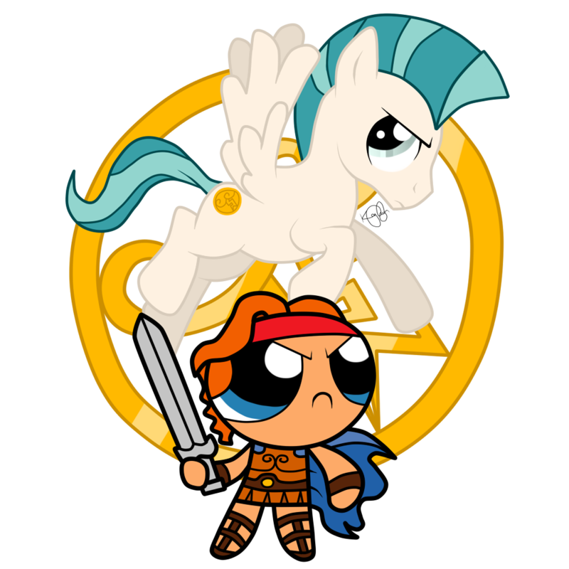 800x800 The Mighty Hercules And Pegasus By Kleekay423
