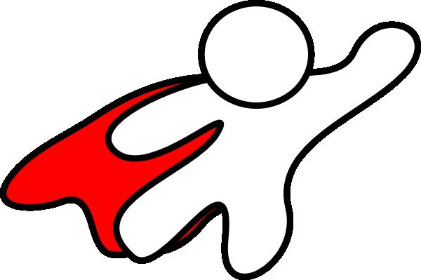 600x399 Super Hero Red Cape Clip Art