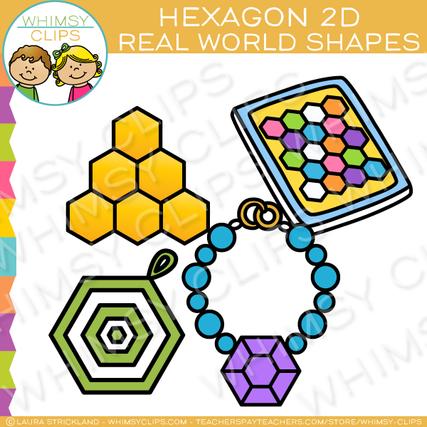 600x600 Hexagon 2D Shapes Real Life Objects Clip Art Images