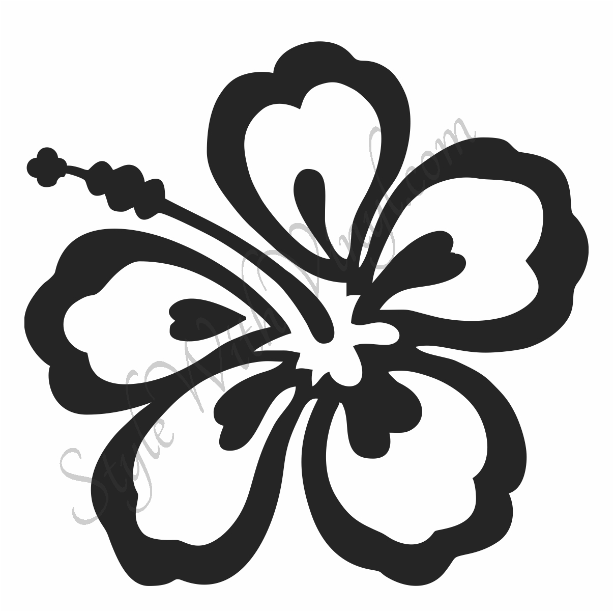 Hibiscus flower outline free download best hibiscus flower outline 1207x1202 drawn hibiscus simple izmirmasajfo