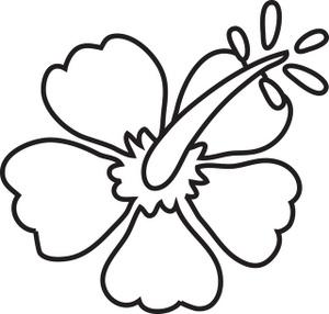 300x286 Hibiscus Clipart Coloring