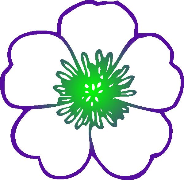 600x589 Purple Hibiscus Flower Clip Art
