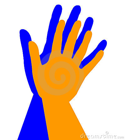 400x446 High Five Clipart