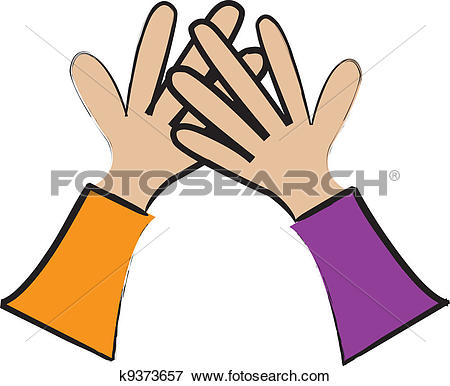 450x386 High Five Clipart