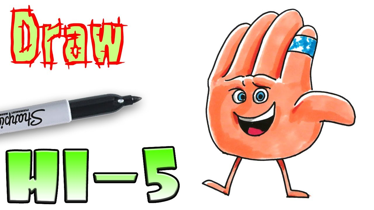 1280x720 How To Draw Hi 5 Emoji Movie