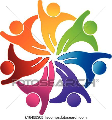 440x470 Clipart Of Social Hi 5 Group Logo K16455305
