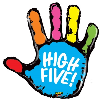 340x355 Color Clipart High Five