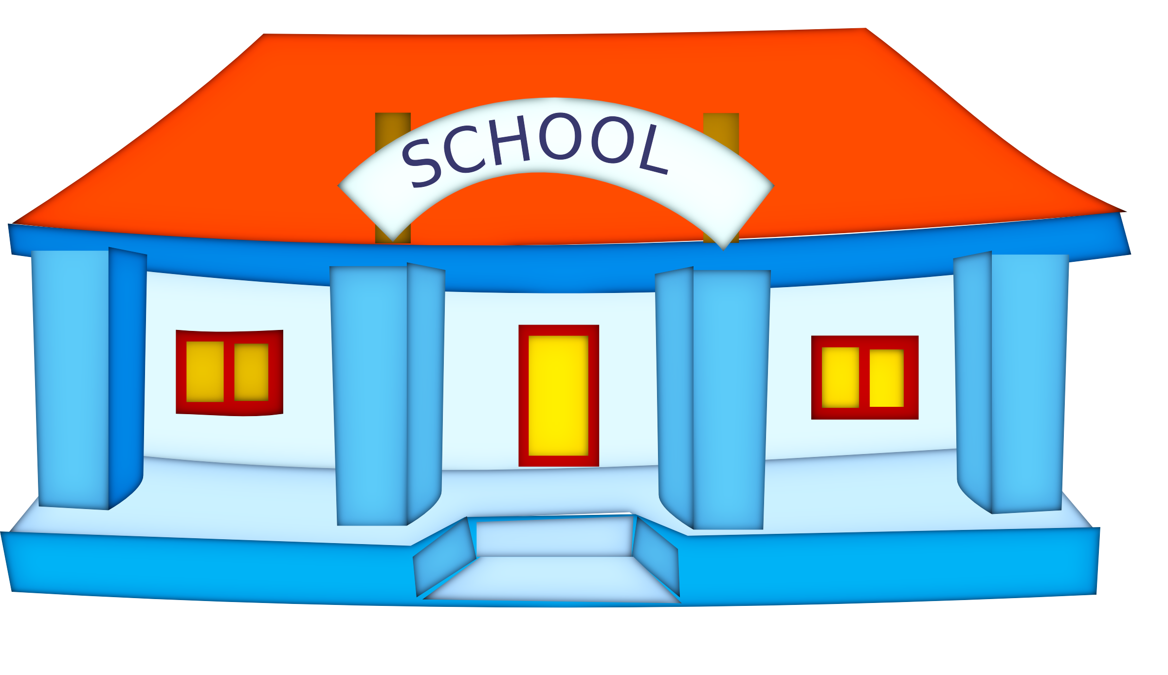2400x1387 High School Building Clipart