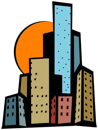 333x438 High Building Clipart
