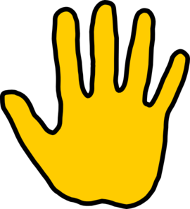 270x297 Hand High Five Clipart