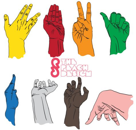 474x454 Hand Drawn Hands Vector Illustrator Pack Free Free Hands Vector