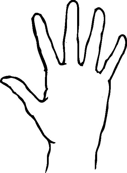 438x595 High Five Hand Clipart Kid
