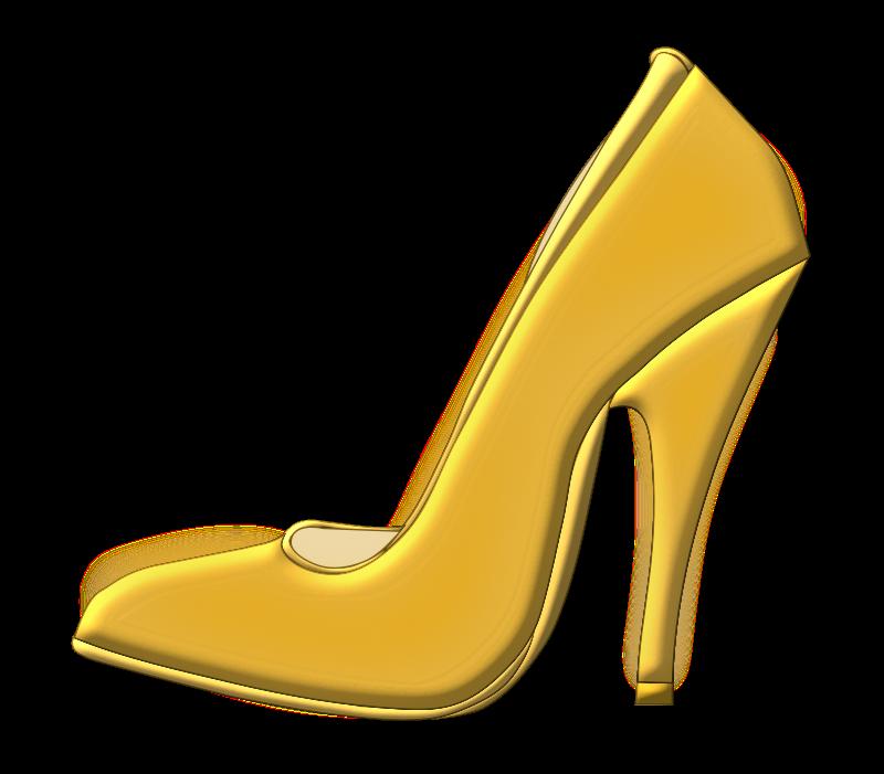 800x701 Free Golden High Heel Shoe Clip Art