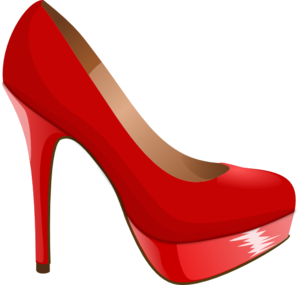 298x285 Red High Heel Clip Art
