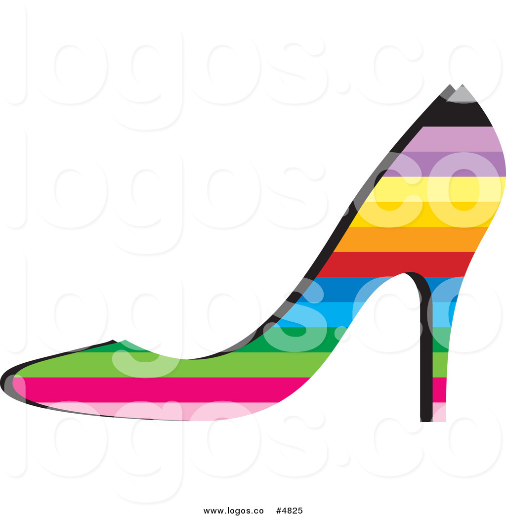 1024x1044 Royalty Free Vector Of A Rainbow High Heel Shoe Logo By Lal Perera