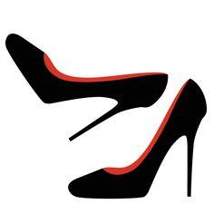 236x236 Clip Art Image Of Women's High Heeled Shoe High Heel Shoes