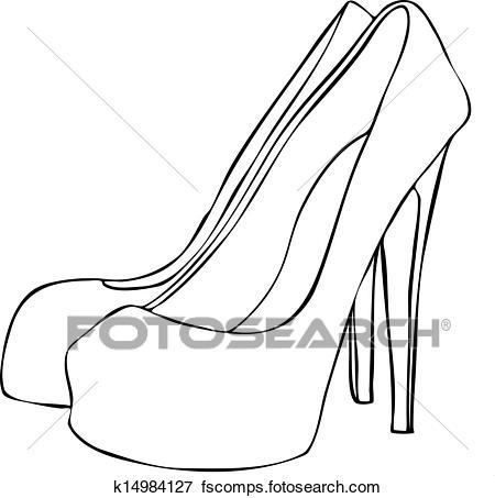 450x453 Clip Art Of Stylish High Heeled Stiletto Shoes K14984127