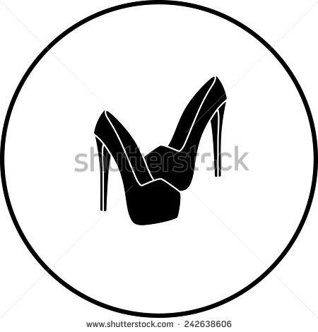 450x470 Heels Clipart Monochrome