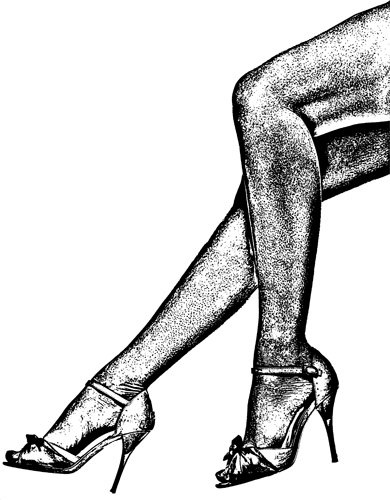390x500 High Heel Shoe Png Black And White Transparent High Heel Shoe