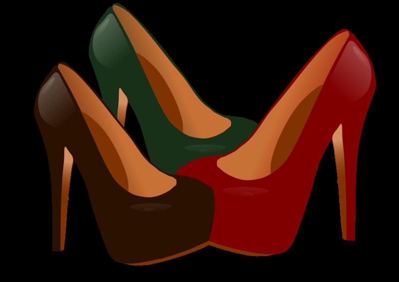 800x566 High Heeled Shoe Clipart