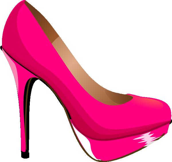 600x565 Pink Highheal Shoe Clip Art