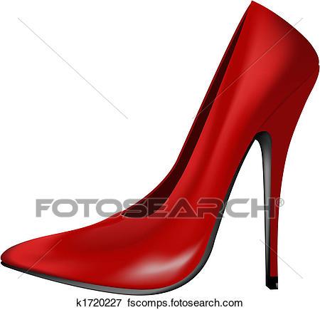 450x435 Clip Art Of Red High Heel Shoe K1720227