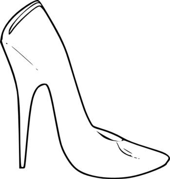 349x368 High Heel Shoe Silhouette Free Vector Download (6,524 Free Vector