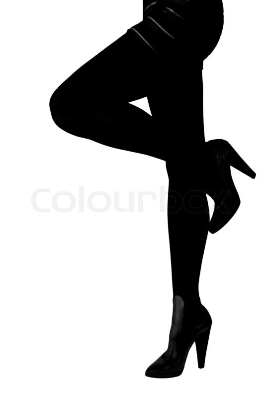 533x800 Silhouette Of Sexy Woman Legs In Shoes High Heels Isolated