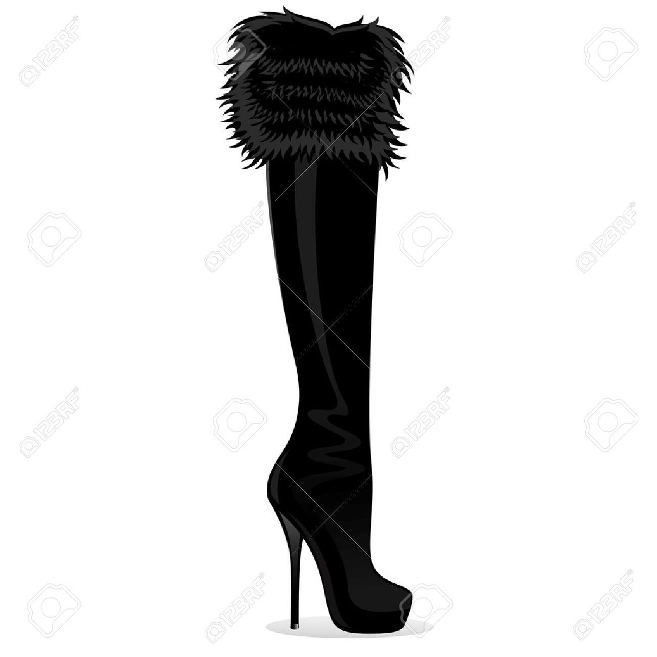 1300x1300 Boots Clipart High Heel