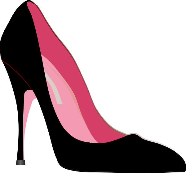600x559 Fashion Clipart High Heeled Shoe