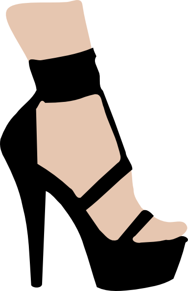 384x594 High Heeled Shoe Clip Art