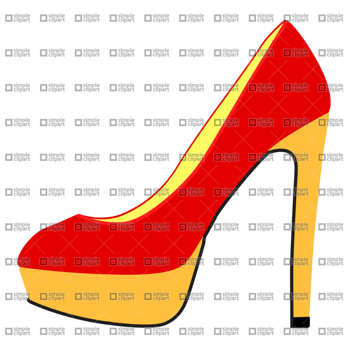 1200x1200 High heel shoe Vector Image