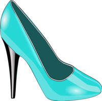 200x198 High heels woman shoe fashion vector clip art