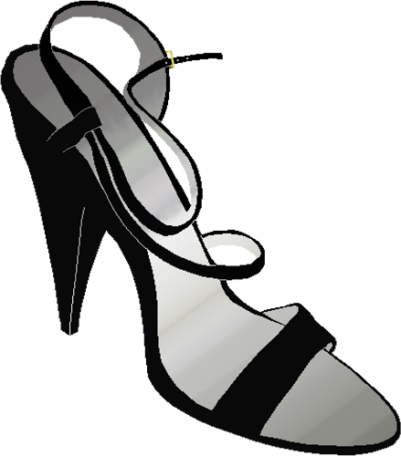 439x500 High heels woman shoe vector clip art image