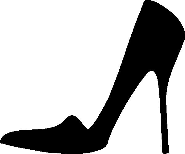 600x501 Black Pump Clip Art