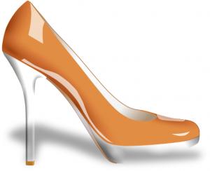 300x244 Glossy High Heel Shoe Clip Art Download
